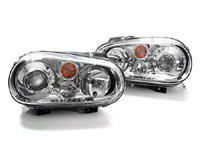 HVWG4HLD-C Helix Mk4 Golf Headlight w/Fog Lamp | Chrome