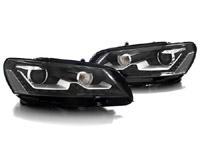 HVWP7HL-LEB Bi-Xenon Projector Headlights w/ LED Strip - Black | B7 Passat