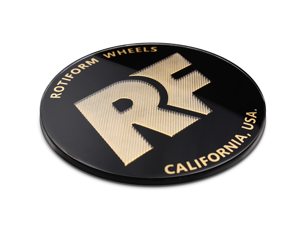 Rotiform Black And Gold Rse Center Cap Sold Each