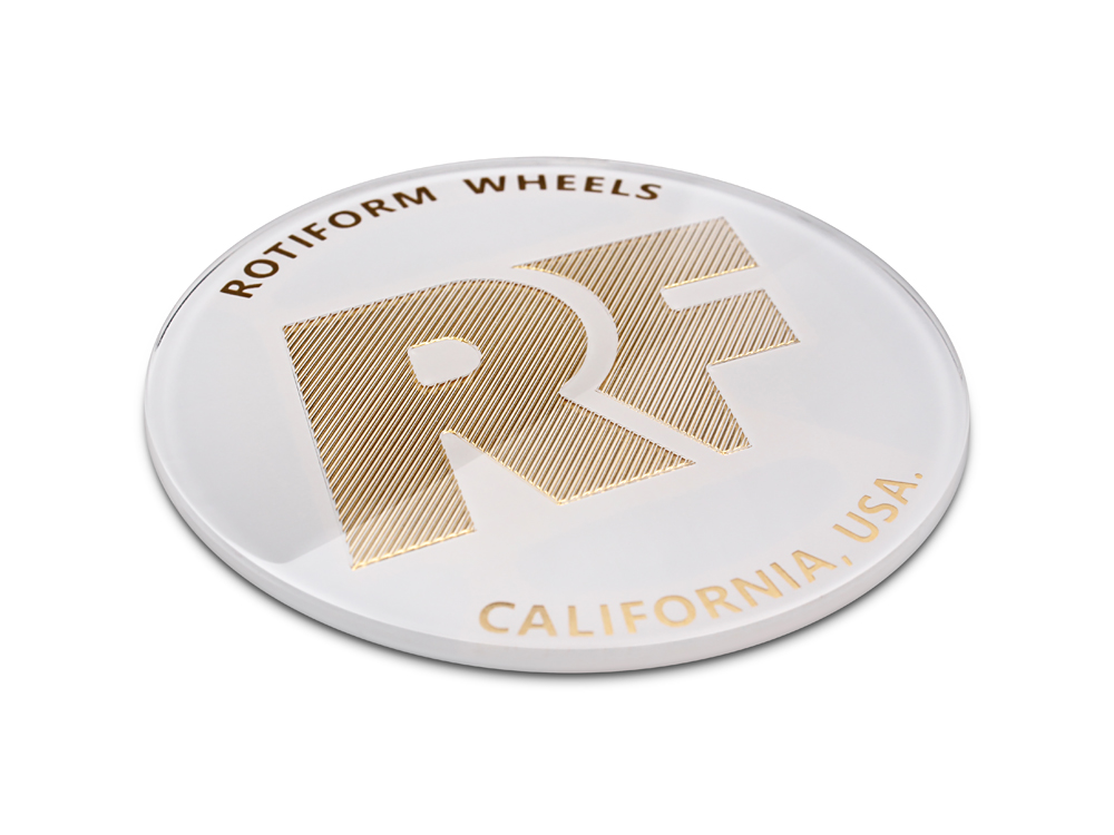 Rotiform White And Gold Rse Center Cap Sold Each