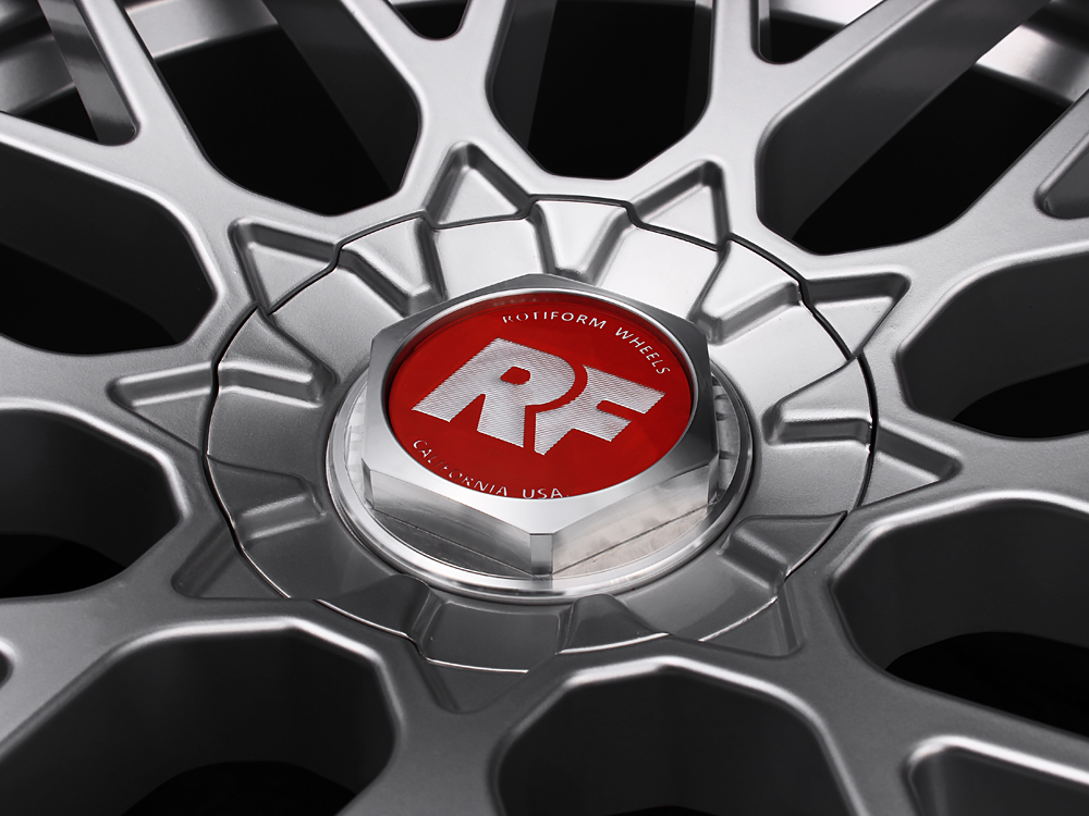Rotiform Red And Silver Rse Center Cap Sold Each