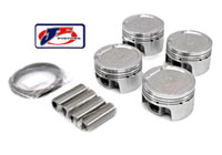 JE-18T-242881 Piston Set by JE - 81.5MM Bore | 9.25:1 CR | Stock Stroke - 86.4MM - 1.8T 20V