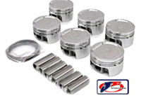 JE-12V-VR6-186235 Piston Set by JE - 82.0mm Bore | 9.0:1 CR | Stock Stroke - 90.2mm - 12v VR6