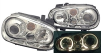 HVWG4HLD-AC Helix Mk4 Golf Headlight w/Fog Lamp | Chrome
