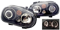 HVWG4HLD-AB Helix Mk4 Golf Headlight w/Fog Lamp | Black
