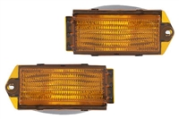 176953041_qty2 Mk2 Front US bumper Turn Signals - OEM Amber