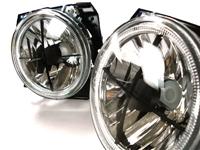 HVWG2HL-AEXC Mk2 7- Round Crosshair Headlights w/ Angel