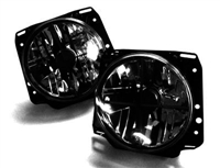 HVWG2HL-XS MK2 7- Round Crystal Crosshair Smoked Headlights