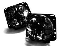 HVWG2HL-XS MK2 7- Round Crystal Crosshair Smoked Headlights