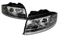 HAUA4B6HL-S5C S5 Style LED Ecode Chrome Projector Headlights |