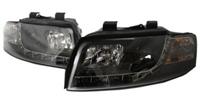 HAUA4B6HL-S5B S5 Style LED Ecode Black Projector Headlights | B6