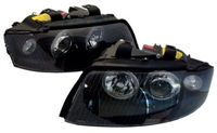 HAUA4B6HL-AEB Black Angel Eye Ecode Projector Headlights | B6