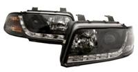 HAUA4B5HL-S5B S5 Style LED Ecode Black Projector Headlights | B5