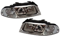 HAUA4B5HL-1C Chrome Ecode Projector Headlights | B5 Audi A4 | S4
