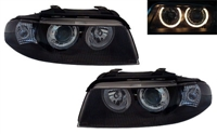 HXAUA4B5HL-AEB Black Ecode Projector Headlights w/Angel Eyes | B5