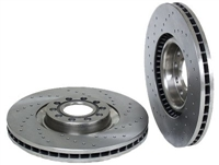 8D0615301KSP_qty2 Front Brake Rotors (Cross-Drilled) | B7 A4 | B5 S4