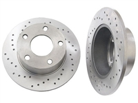 4A0615601A_X_qty2 Rear Rotors (Cross-Drilled) | FWD Passat 98-05