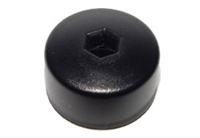 6X0601173A 17mm Head (Black) Wheel LOCK Bolt Caps w/Hole -
