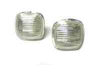 HAUA4B5SM-CLEAR-SET Sidemarkers Clear (Square Style) | 96-98 Audi A4