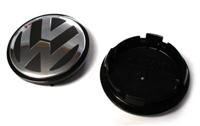 3B7601171XRW VW Center Cap   Black Silver (66mm) - Priced Each
