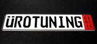 Uro_Plate_Zoll UroTuning European License Plate | Zoll