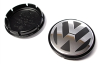 1J0601171XRW VW -Raised- Wheel Center Cap | Black|Silver (55mm)