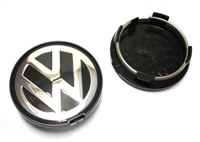 7D0601165BXF VW Wheel Center Cap | Black|Silver (63mm) - Priced