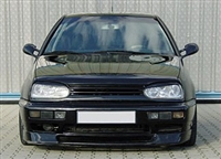 GR-VWG3-B2 Mk3 Golf Badgeless Grill (2-Bar) | Black Finish