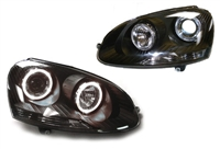 HVWG5HL-AEB DEPO Mk5 Smoked Angel Eye Projector Headlights