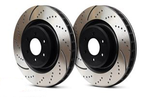 Rear | EBC Sport Slotted Rotors (370x24mm) | F07 550i | F01 7-Series