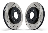 128.33048L-R Rear Stoptech Cross Drilled Rotors - Set of 2 Rotors (245x10mm) B5 A4 1.8T FWD