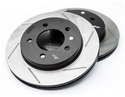 126.34058SL-126.34059SR Stoptech Front Gas-Slotted Rotors - E46 M3 (325x28mm)