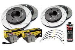 Stoptech_S_VW_EOS Stoptech Slotted Rotor Kit with Hawk Pads | VW EOS