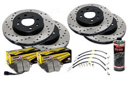 Stoptech_B8-A4-A5 Stoptech Cross Drilled Rotor Kit 320mm with Hawk Pads | B8 Audi A4 | A5