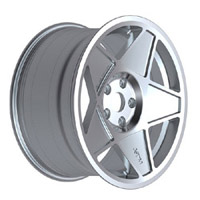 "3SDM.05.4x100.16.S 3SDM 0.05 Wheel | 16"" 4x100 Silver"