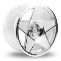 "3SDM.05.112.19.W 3SDM 0.05 Wheel | 19"" 5x112 White w/ Polished Face"