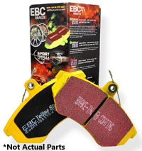 DP42150R Front | EBC YellowStuff Track Brake Pads | Mk7 Golf | GTi | Audi A3 (312 | 288mm)