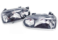 HVWG3HL-EB-60 Helix Mk3 Golf E-code Gti-twin Headlight Black