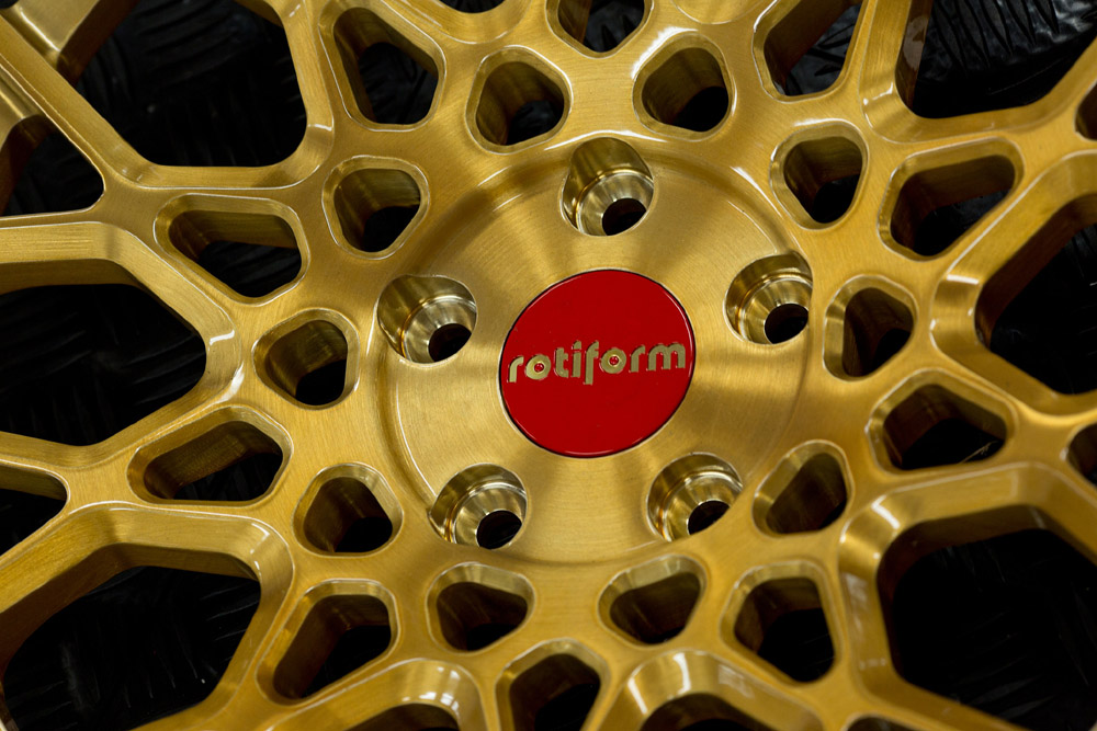 Rotiform Red And Gold Limited Edition Center Cap Sold Each