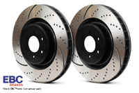 GD931 Rear EBC Slotted | Dimpled Rotors - Set of 2 Rotors (256x22mm) Mk4 337 | 20th| GLi | R32