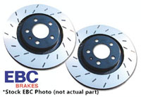 USR931 Rear EBC Ultimax Slotted Rotors - Set of 2 Rotors (256x22mm) Mk4 337 | 20th| GLi | R32 | TT Mk1 3.2L