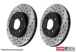 127.34066L-R Rear Stoptech Cross Drilled & Slotted Rotors - Set of 2 Rotors (259x10mm)