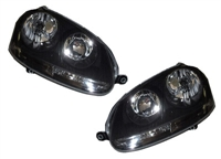 HVWG5HL-EB Helix Mk5 E-Code Headlights | Black Background