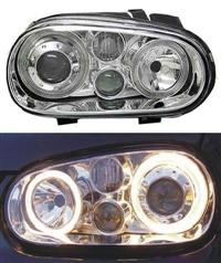 HVWG4HL-AEC-90 Depo Mk4 Golf Angel H|Lamp w/Fog Lamp | Chrome