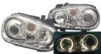 HVWG4HLD-AC Helix Mk4 Golf Headlight w/Fog Lamp | Chrome