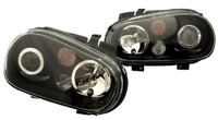 HVWG4HLD-B1 Helix Mk4 Golf Headlight w/Fog Lamp | Black