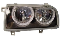 HVWJ3HL-AEB-90 DEPO Mk3 Jetta Powerlook Angel Headlight Black