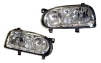HXVWG3HLD-HC Helix Mk3 Hx Golf (Mk4-look) Headlight | Chrome