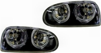 HVWG3HL-AEB-90 Helix Mk3 Golf Powerlook Angel Headlight Black