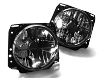HVWG2HL-XC MK2 7- Round Crystal Crosshair Clear Headlights